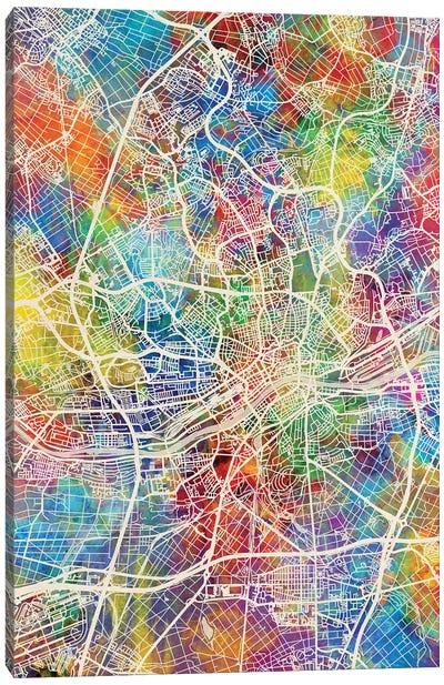 Frankfurt Germany City Map I Canvas Art Print