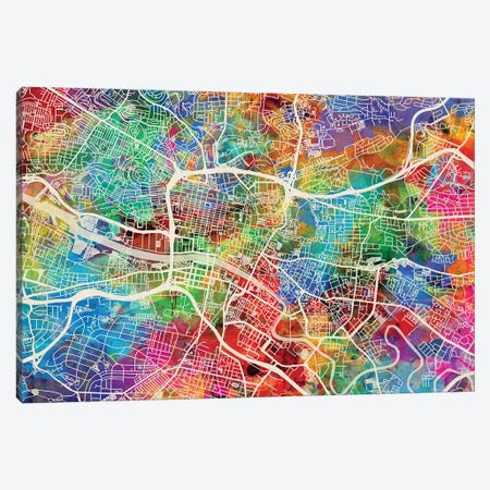 Glasgow Street Map II Canvas Print #MTO1709} by Michael Tompsett Canvas Art Print