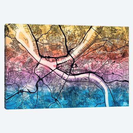 Pittsburgh, Pennsylvania, USA Canvas Print #MTO170} by Michael Tompsett Canvas Print