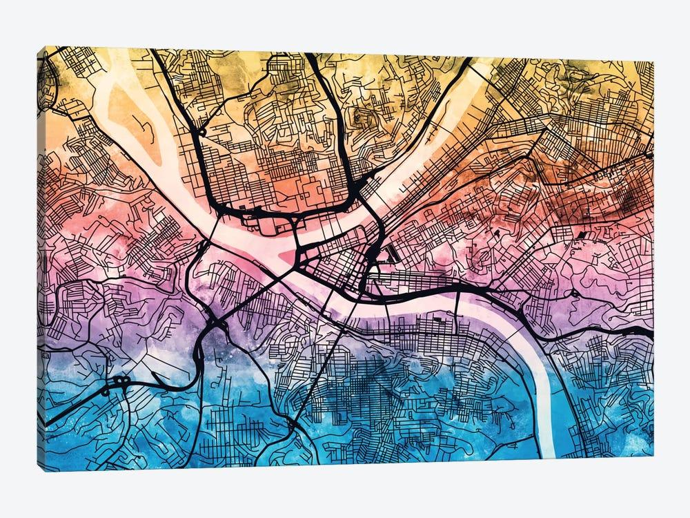 Pittsburgh, Pennsylvania, USA by Michael Tompsett 1-piece Canvas Print