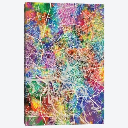 Hamburg Germany City Map I Canvas Print #MTO1710} by Michael Tompsett Canvas Art