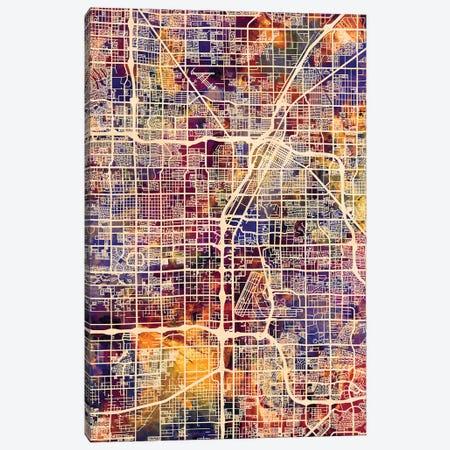Las Vegas City Street Map I Canvas Print #MTO1718} by Michael Tompsett Canvas Artwork