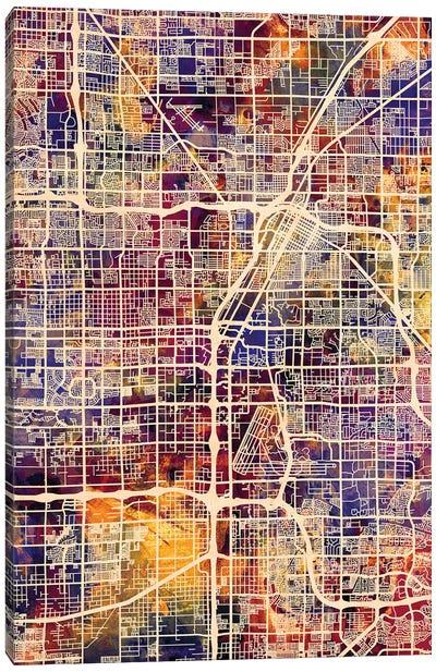 Las Vegas City Street Map I Canvas Art Print