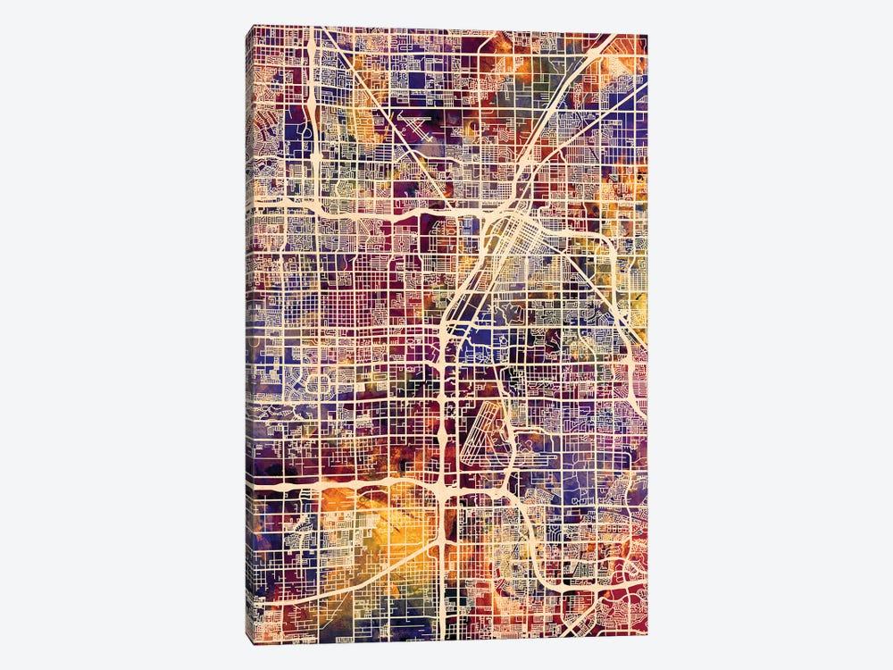 Las Vegas City Street Map I by Michael Tompsett 1-piece Art Print