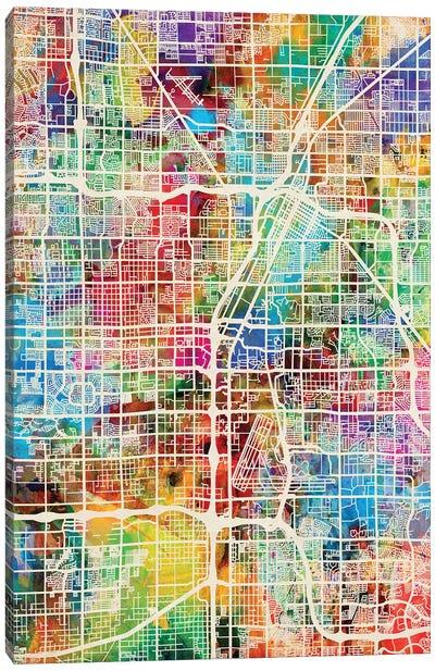 Las Vegas City Street Map II Canvas Art Print