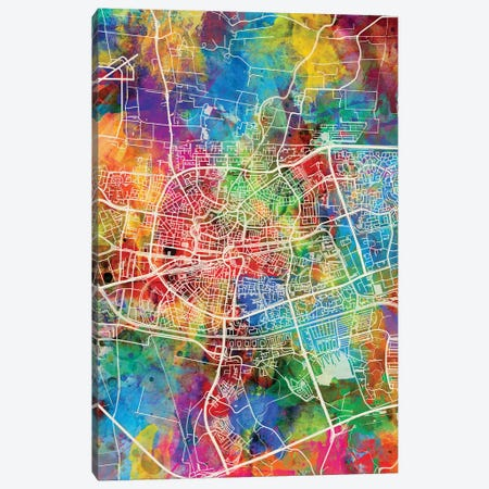 Leeuwarden Netherlands City Map I Canvas Print #MTO1720} by Michael Tompsett Canvas Print