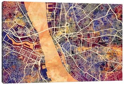 Liverpool England Street Map I Canvas Art Print