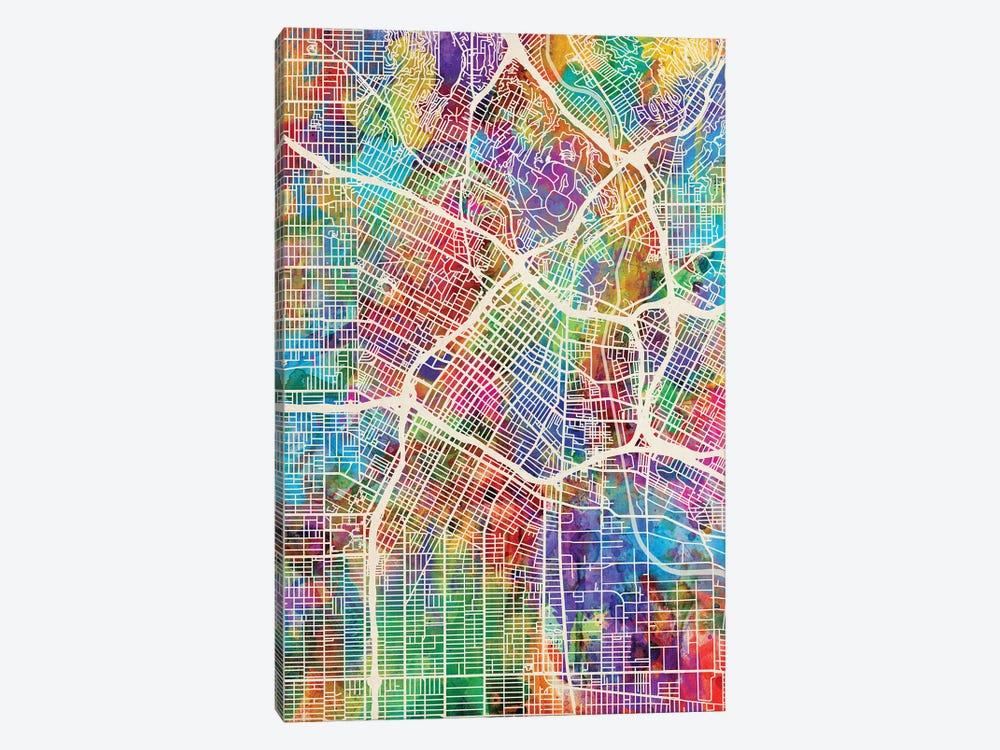 Los Angeles City Street Map I by Michael Tompsett 1-piece Canvas Artwork