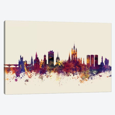 Aberdeen, Scotland, United Kingdom On Beige Canvas Print #MTO172} by Michael Tompsett Art Print