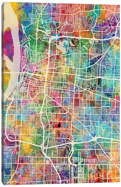 Memphis Tennessee City Map I Canvas Art Print