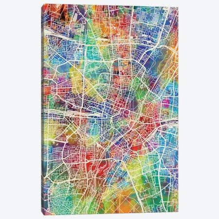 Munich Germany City Map I Canvas Print #MTO1739} by Michael Tompsett Canvas Wall Art
