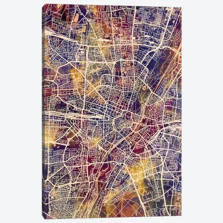 Munich Germany City Map II Canvas Print #MTO1740} by Michael Tompsett Canvas Print