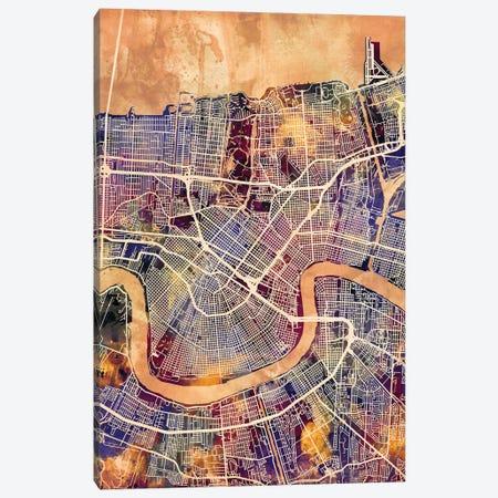 New Orleans Street Map II Canvas Print #MTO1744} by Michael Tompsett Canvas Artwork