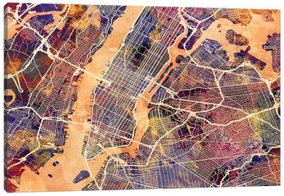 New York City Street Map I Canvas Art Print