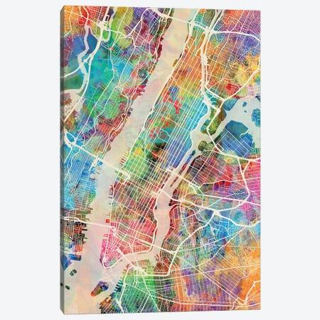 New York City Street Map III Canvas Print #MTO1747} by Michael Tompsett Canvas Artwork