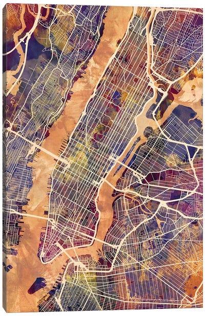 New York City Street Map IV Canvas Art Print