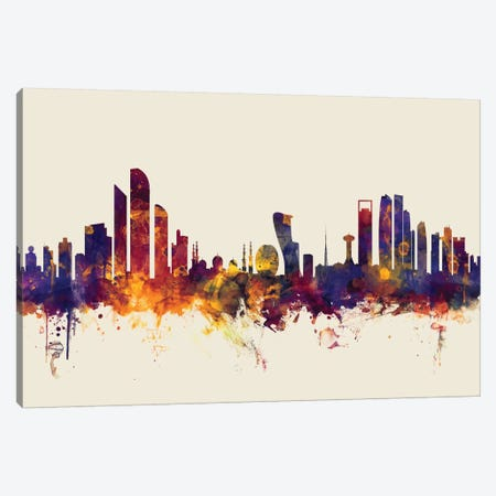 Abu Dhabi, UAE On Beige Canvas Print #MTO174} by Michael Tompsett Canvas Wall Art