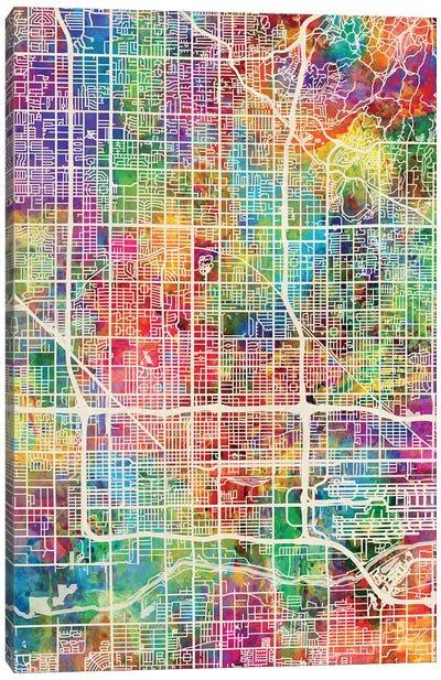 Phoenix Arizona City Map I Canvas Art Print