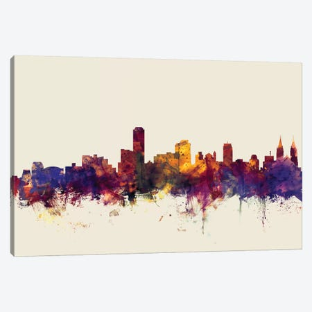 Adelaide, Australia On Beige Canvas Print #MTO176} by Michael Tompsett Canvas Artwork