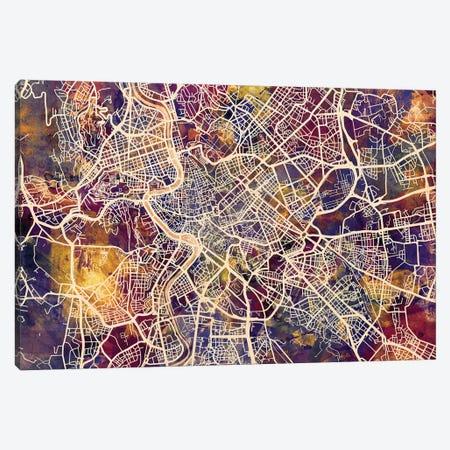 Rome Italy City Street Map III Canvas Print #MTO1770} by Michael Tompsett Canvas Wall Art