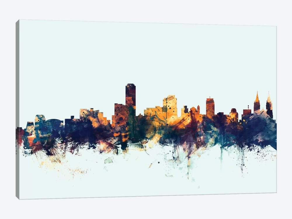 Adelaide, Australia On Blue by Michael Tompsett 1-piece Canvas Art