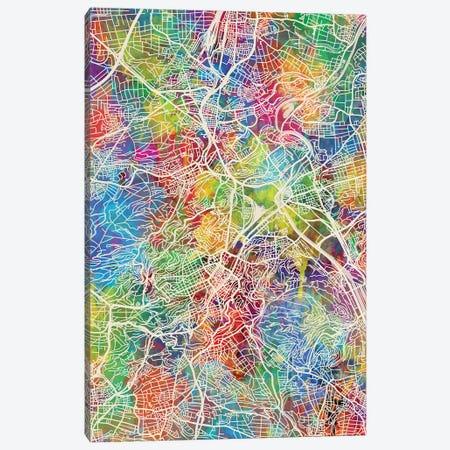 Stuttgart Germany City Map I Canvas Print #MTO1780} by Michael Tompsett Art Print