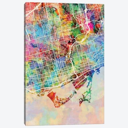 Toronto Street Map I Canvas Print #MTO1782} by Michael Tompsett Art Print