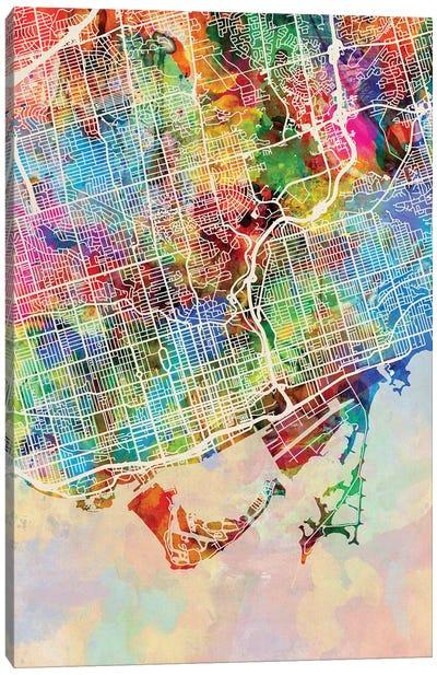 Toronto Street Map I Canvas Art Print