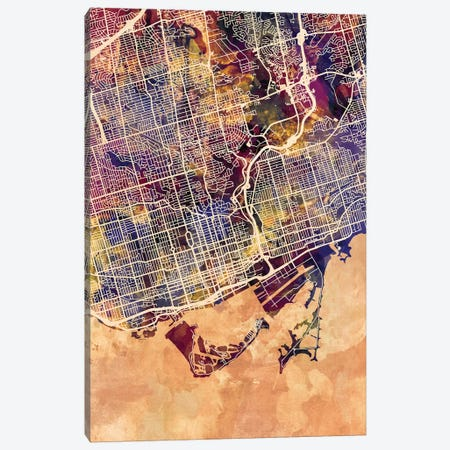 Toronto Street Map II Canvas Print #MTO1784} by Michael Tompsett Canvas Artwork