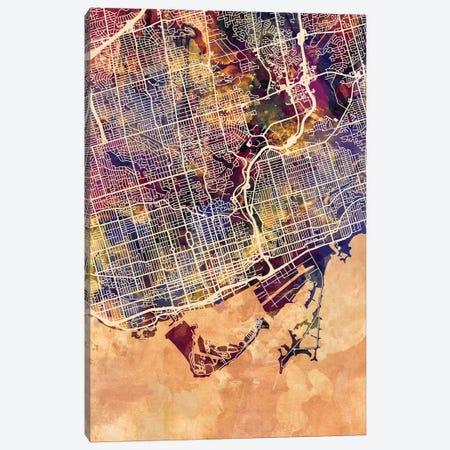 Toronto Street Map II Canvas Print #MTO1784} by Michael Tompsett Canvas Artwork