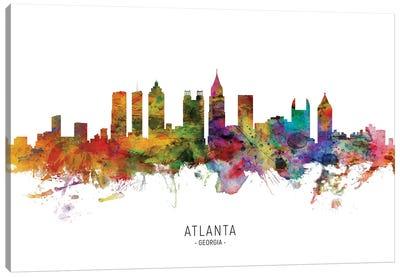 Atlanta Georgia Skyline Canvas Art Print