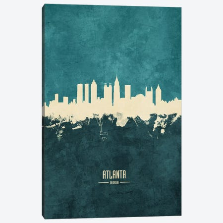 Atlanta Georgia Skyline Canvas Print #MTO1790} by Michael Tompsett Canvas Art