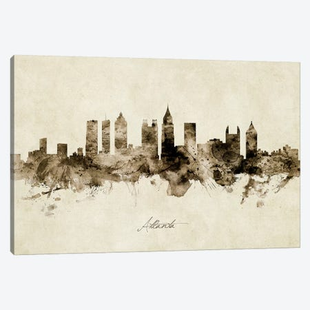 Atlanta Georgia Skyline Canvas Print #MTO1791} by Michael Tompsett Canvas Artwork