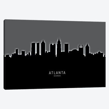 Atlanta Georgia Skyline Canvas Print #MTO1792} by Michael Tompsett Canvas Art