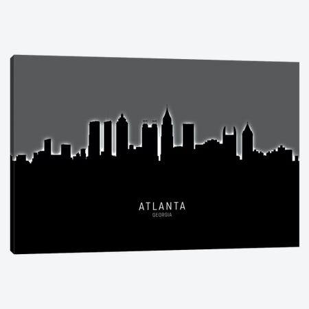 Atlanta Georgia Skyline Canvas Print #MTO1792} by Michael Tompsett Canvas Art