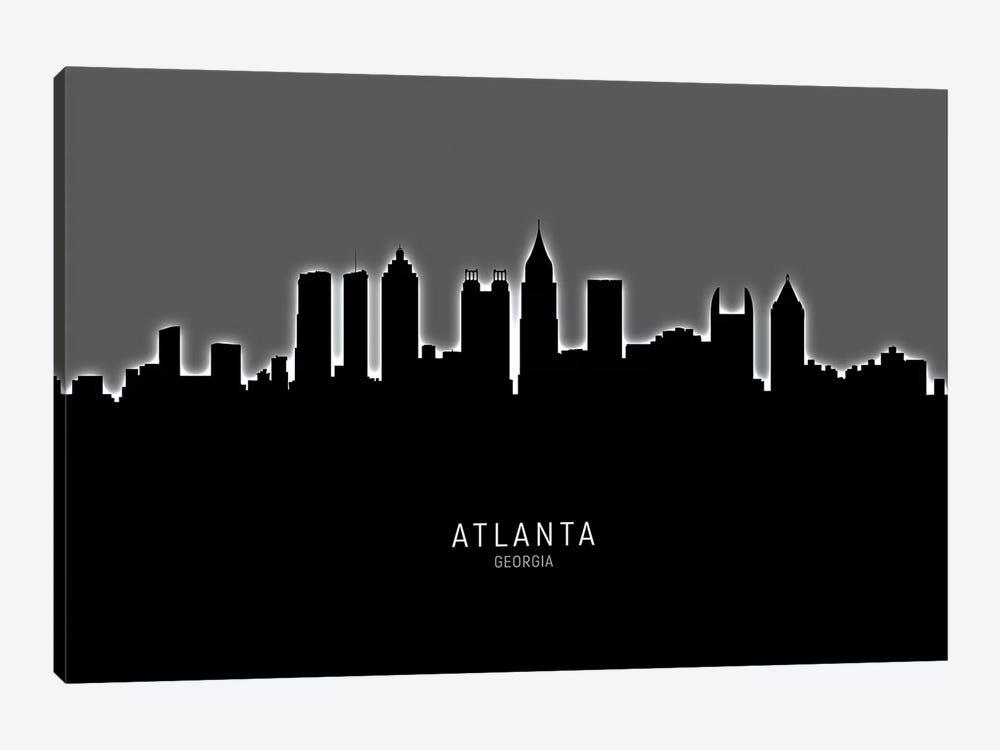 Atlanta Georgia Skyline by Michael Tompsett 1-piece Canvas Art Print