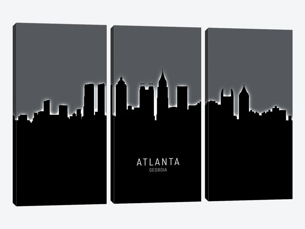 Atlanta Georgia Skyline by Michael Tompsett 3-piece Art Print