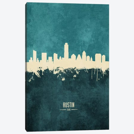 Austin Texas Skyline Canvas Print #MTO1794} by Michael Tompsett Canvas Art Print
