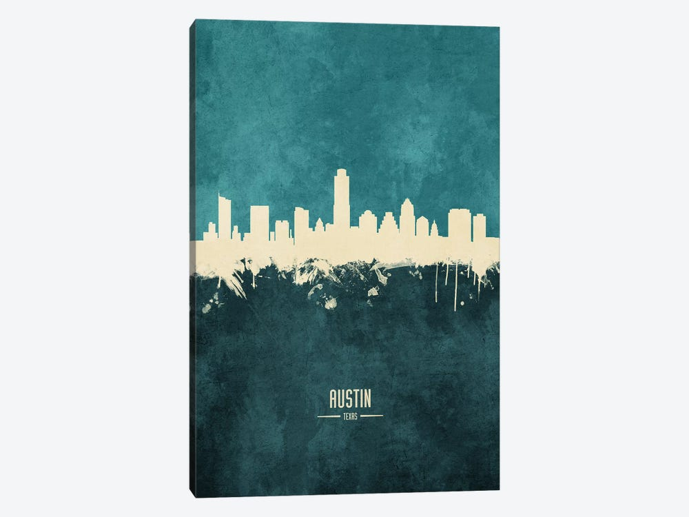 Austin Texas Skyline by Michael Tompsett 1-piece Canvas Art Print