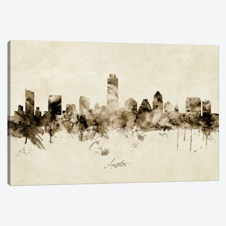 Austin Texas Skyline Canvas Print #MTO1795} by Michael Tompsett Art Print