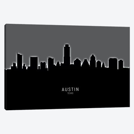 Austin Texas Skyline Canvas Print #MTO1796} by Michael Tompsett Canvas Art Print