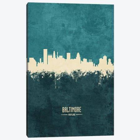 Baltimore Maryland Skyline Canvas Print #MTO1797} by Michael Tompsett Canvas Art Print