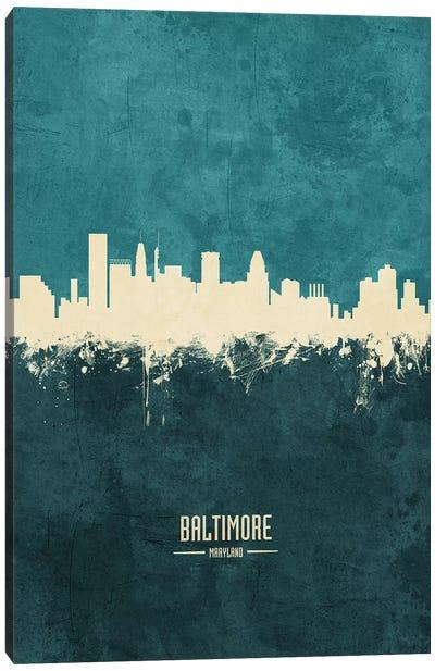 Baltimore Maryland Skyline Canvas Art Print