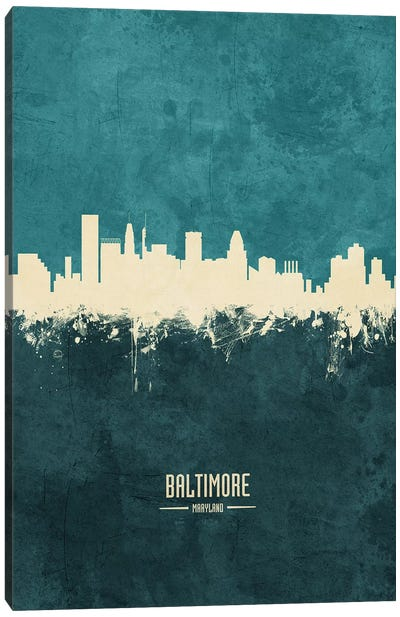 Baltimore Maryland Skyline Canvas Art Print