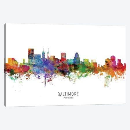 Baltimore Maryland Skyline Canvas Print #MTO1798} by Michael Tompsett Canvas Art
