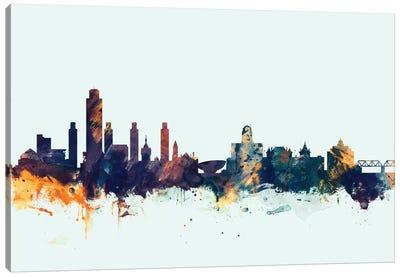 Skyline Series: Albany, New York, USA On Blue Canvas Print #MTO179