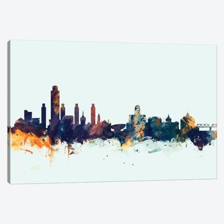 Albany, New York, USA On Blue Canvas Print #MTO179} by Michael Tompsett Art Print
