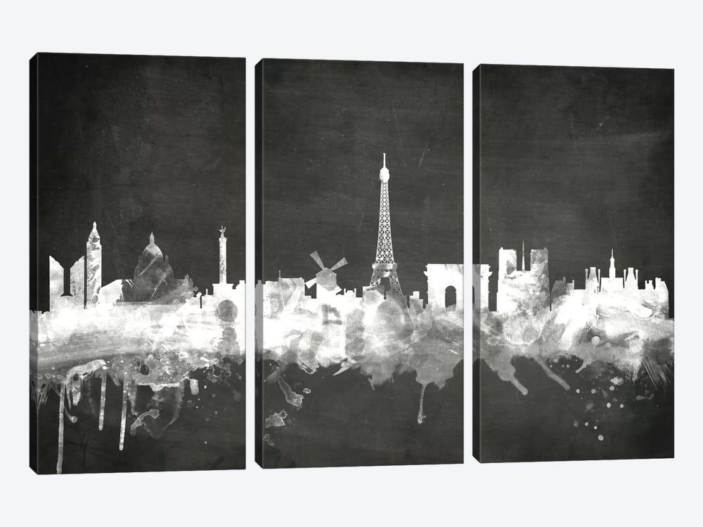 Paris, France by Michael Tompsett 3-piece Canvas Art Print