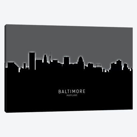 Baltimore Maryland Skyline Canvas Print #MTO1800} by Michael Tompsett Canvas Artwork