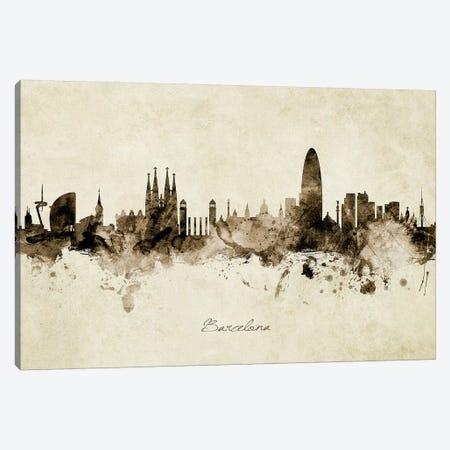 Barcelona Spain Skyline Canvas Print #MTO1803} by Michael Tompsett Canvas Wall Art